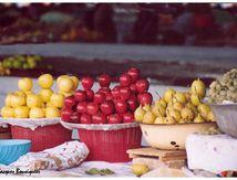 Fruits et légumes au marché de Tashkent