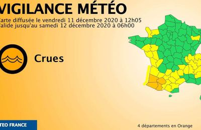 Météo vigilance orange: Crues