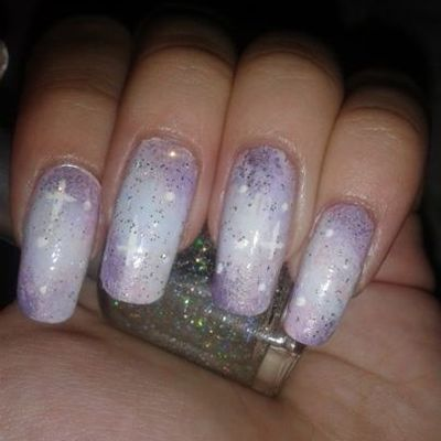 Nail art galaxy mais pastel !