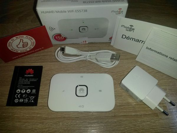 unboxing clé 4G mobile Wi-Fi portable Huawei