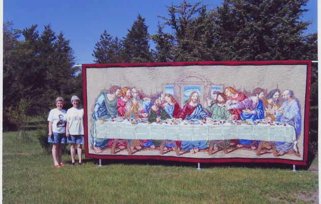 La Cène: un quilt de Marilyn Bujalski / The last Supper : a quilt from Marilyn Bujalski