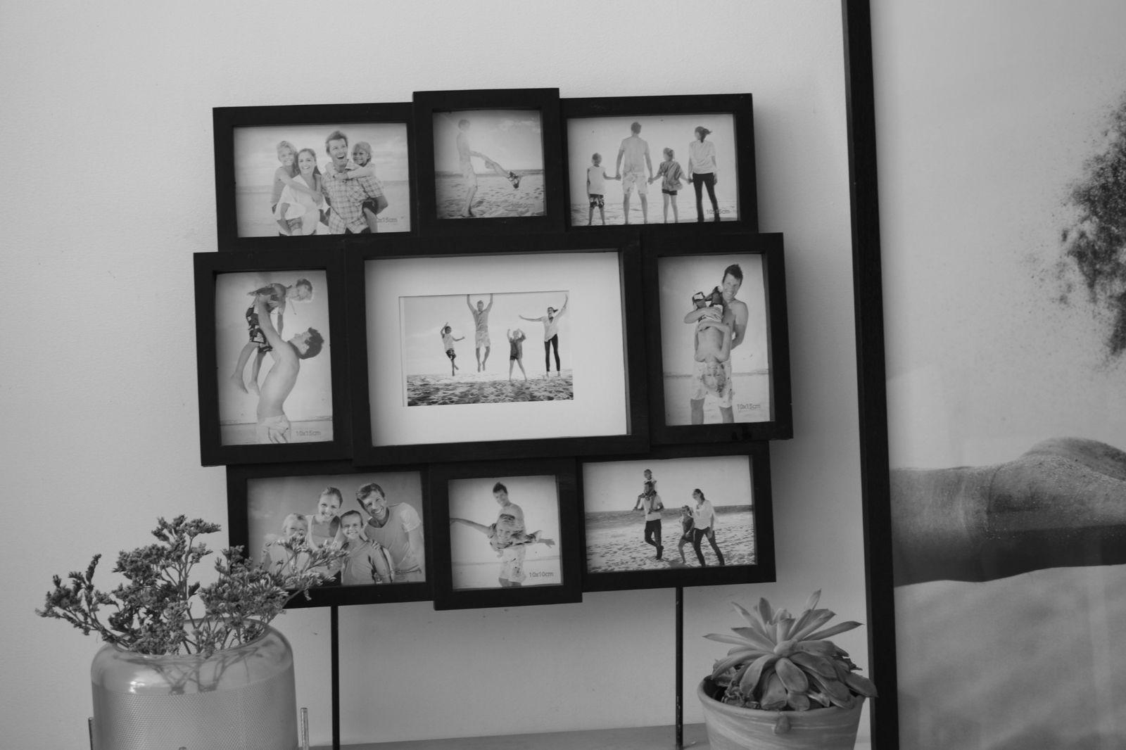 DIY déco ,cadre photo sur pieds en béton !