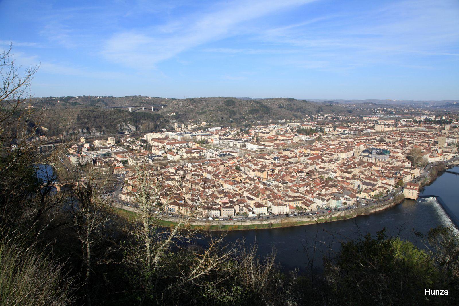 Cahors vue depuis le Mont Saint-Cyr