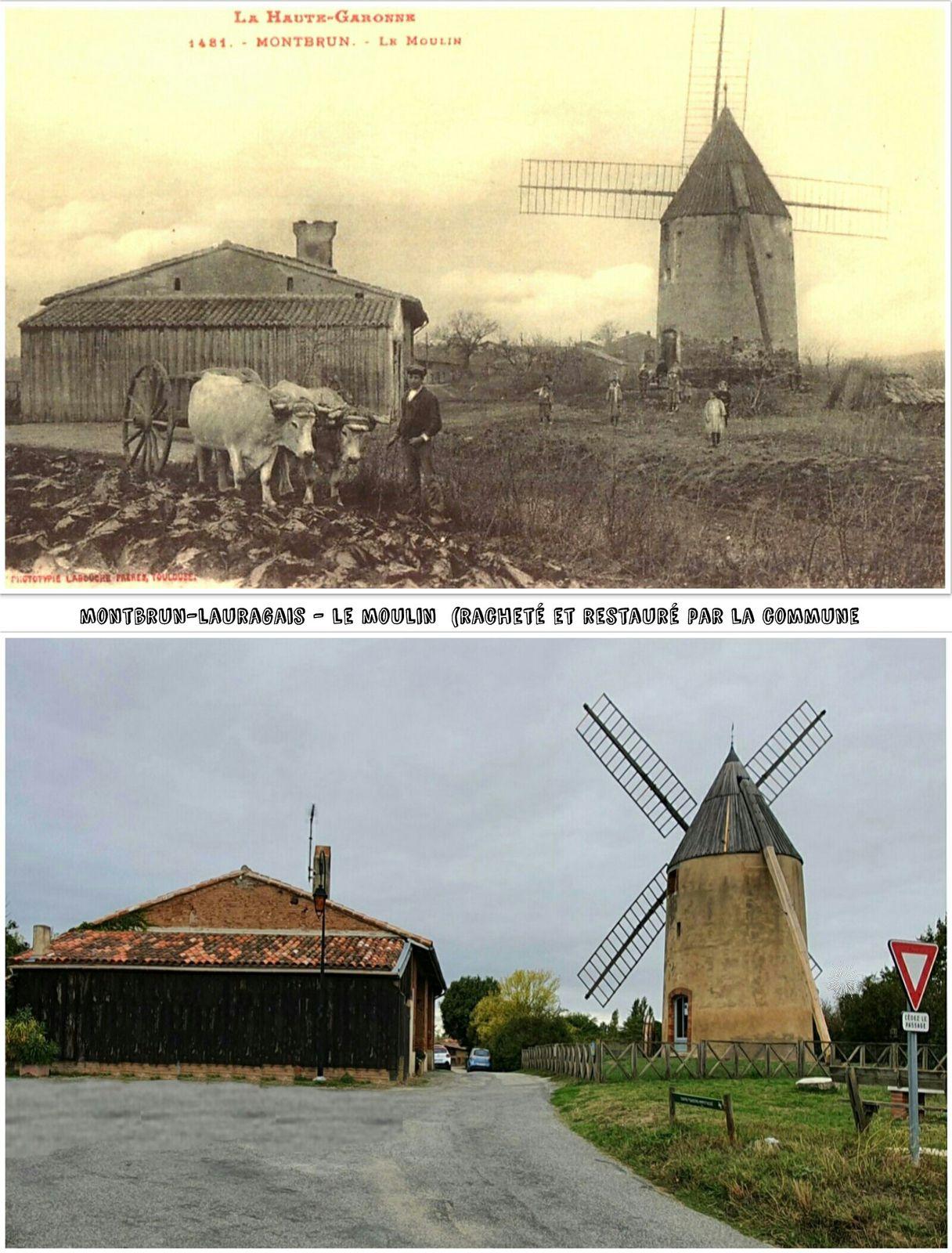 Moulins d'antan/aujourd'hui, Lauragais, Hte Garonne.