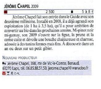 Guide Hachette des vins 2012!
