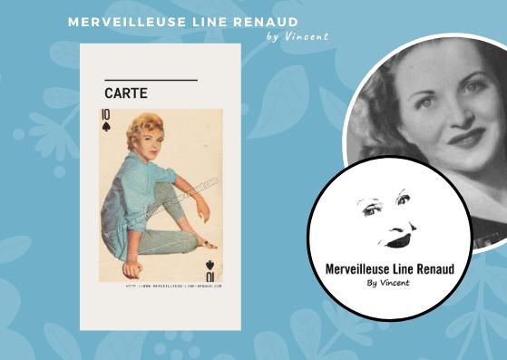OBJETS: Carte à jouer Line Renaud