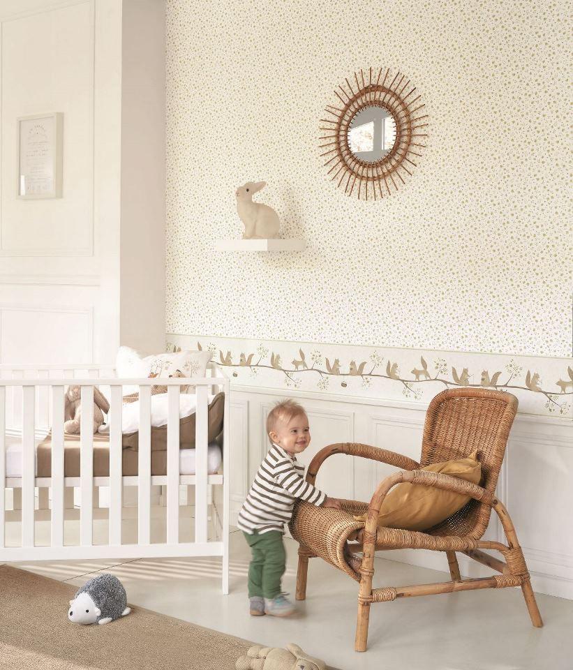 Rose&Nino, une nouvelle collection de papiers peints pour bébés et enfants de Casadeco.