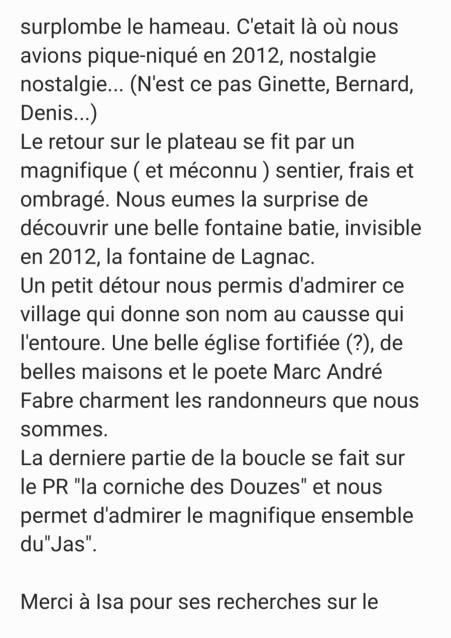 Rando Causse de Lagnac ( jeudi 26/08/21)