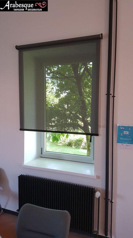 stores rouleaux arabesque bureaux administrations tissu non feu m1