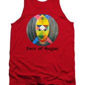 Face Of Magus Text Tank Top for Sale by Michael Bellon