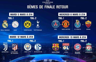 [Foot] Le Dispositif de RMC Sport pour suivre les 1/8e de Finale Retour de la Champions League !