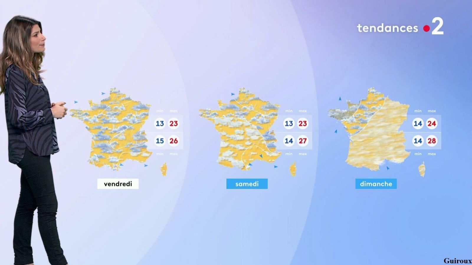 Chloé Nabédian 24/07/2021 Journaux météo du soir + météo des plages