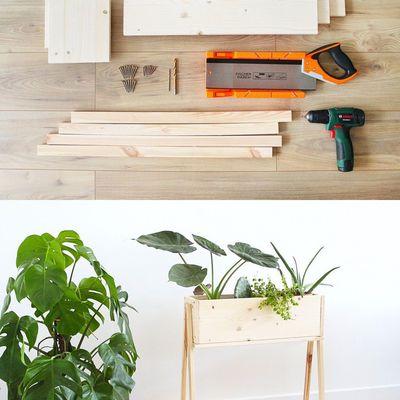 DIY un bac pour plante d'intérieur
