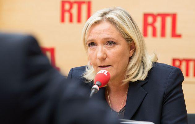 Marine Le Pen invitée de RTL matin jeudi 17 mars