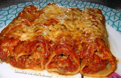 cannelloni a la chair a saucisse