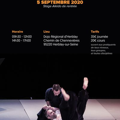 Stage de Rentrée Issei Tamaki à Herblay, samedi 5 septembre