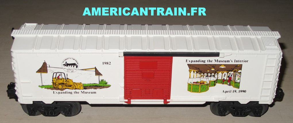 Wagon Box Car 20th Anniversary T.C.A. 3 rails échelle O Lionel