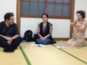 WORKSHOP donné par Vanda Benes à l'Université Gakushuin de Tokyo, Japon