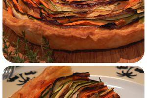 Tarte aux légumes : courgettes et carottes