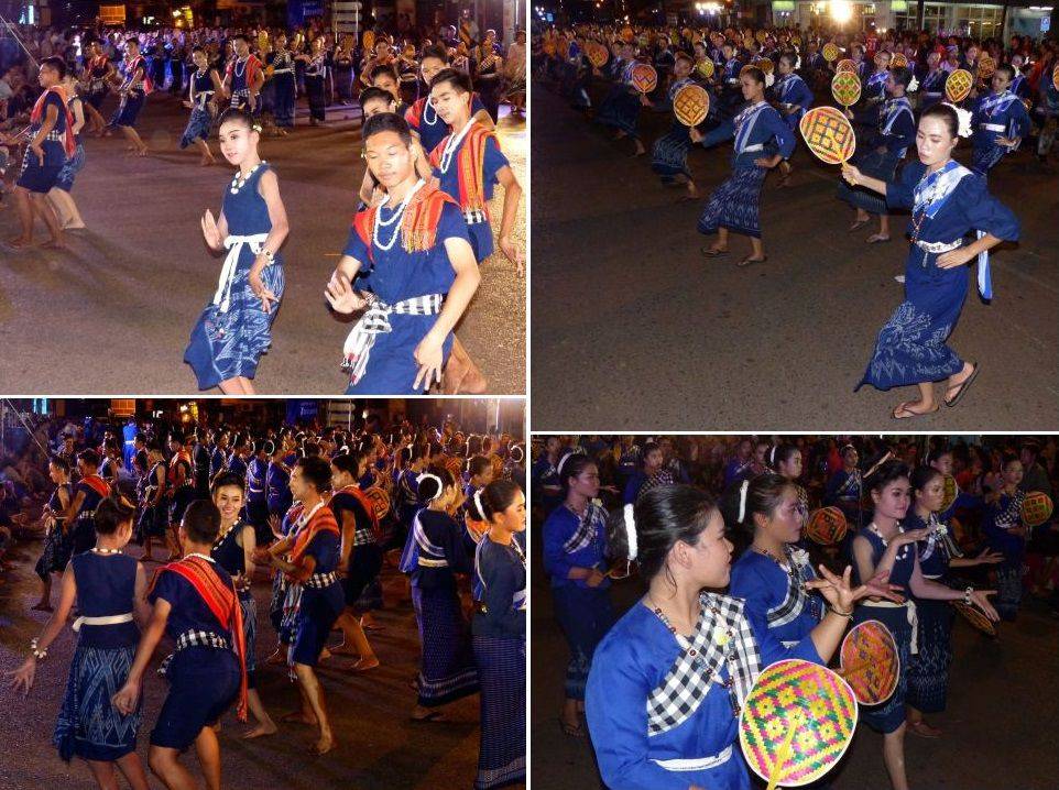 Le Festival des Chateaux de cire à Sakon Nakhon (2) - La parade nocturne