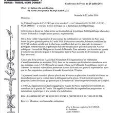 NOUVELLE-CALEDONIE : L'USTKE appelle à la grève générale ce mercredi 3 août
