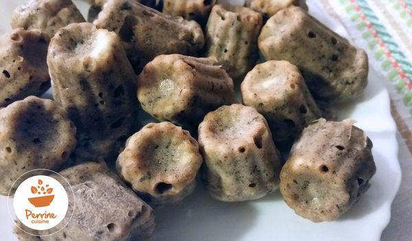 Cannelés au pesto d'olives à la truffe d'été