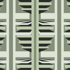 @Feath-The ANOTHER LEVEL wallpaper extols uniformity by displaying different block forms repeating at a regular cadence through the design. Clever use of colour creates shadow that draws us deeper into the rectangular latticework.  The Another Level wallpaper is available in 6 colourways.
