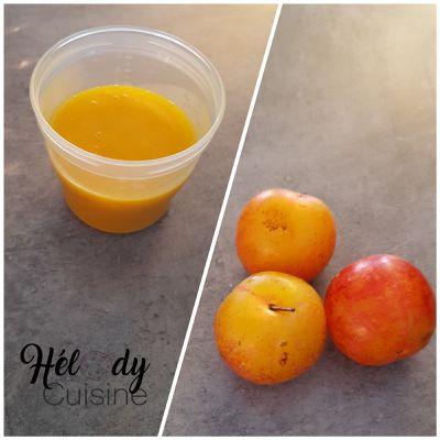 Compote de prunes jaunes pour bébé ou pas !