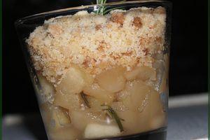 Crumble de Pommes au Romarin