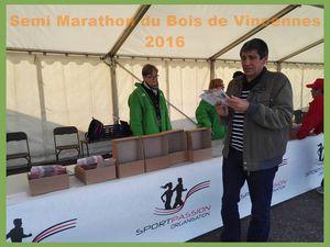 Semi marathon du Bois de Vincennes 2016.