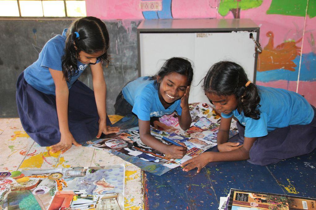 Diaporama, les enfants d'Apres School près de Pondichéry (Inde)