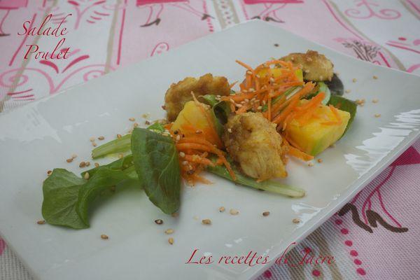 Salade de poulet et mangue