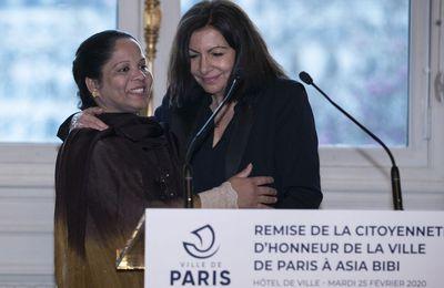 Asia Bibi faite citoyenne d'honneur de la ville de Paris