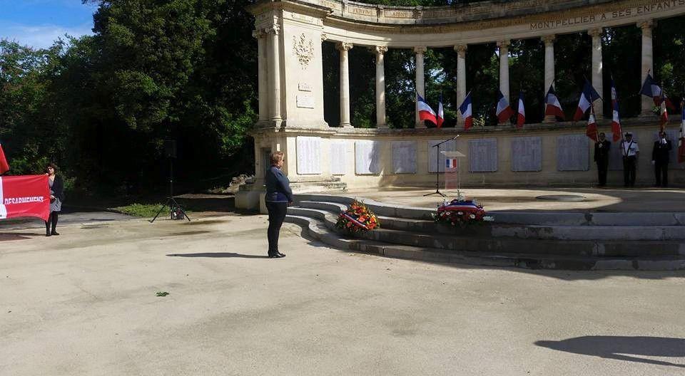 Commémoration Abandon des harkis à Montpellier (34)