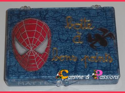 """Boîte à """"Bons Points"""" Spiderman: récup'"""