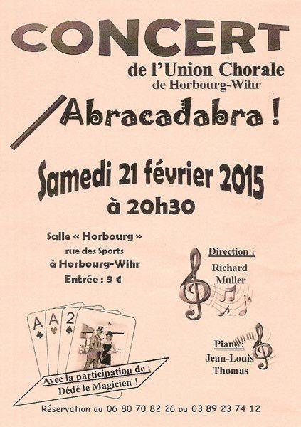 Concert à Horbourg-Wihr: ABRACADABRA