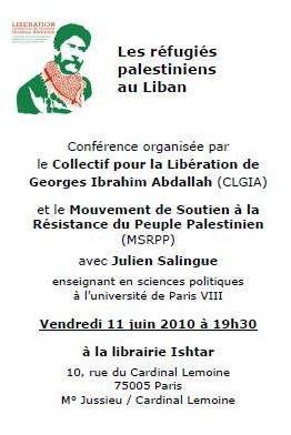 Images et photos 2010 pour le blog http://liberonsgeorges.over-blog.com  Collectif pour la libération de Georges Ibrahim Abdallah
