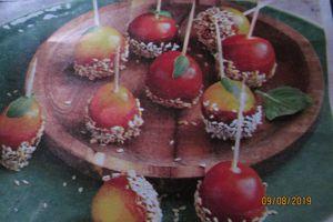 Tomates cerises façon pommes d'amour