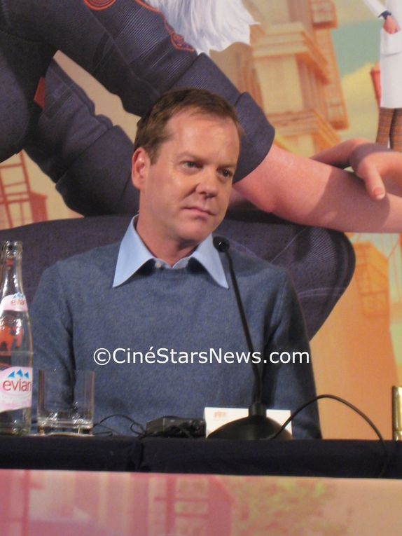 Kiefer Sutherland Reese Witherspoon Conférence de presse Monstres contre Aliens Parsi 15-03-2009