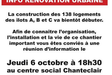 La Rénovation Urbaine des Nouvelles Résidences : Les constructions des ilôts ABC vont bientôt démarrer