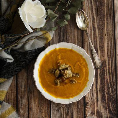 Soupe de potimarron et céleri