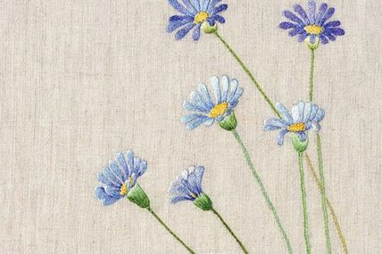 Floral embroidery on
