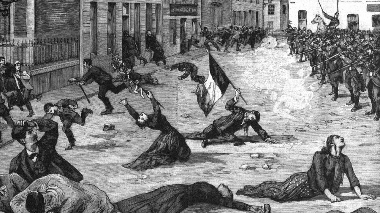Fusillade de Fourmies, 1er mai 1891 (dessin d'époque)