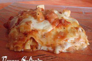 Lasagnes au tofu et fève tonka