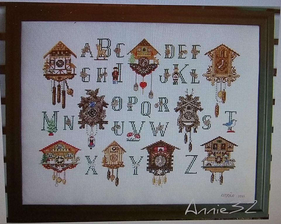 Les splendides ABECEDAIRES de notre doyenne Annie !