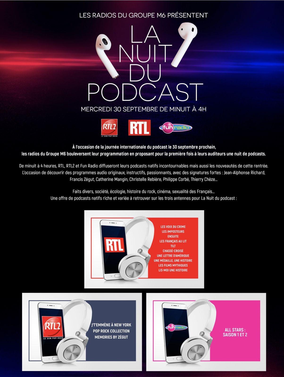 La nuit du Podcast des radios du groupe M6.