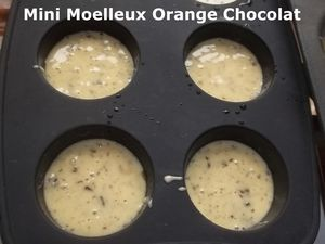 Mini Moelleux Orange Chocolat