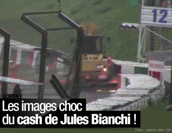 Les images choc du cash de Jules Bianchi ! #CourageJules