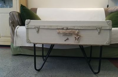 RE : VALISE VINTAGE-TABLE BASSE