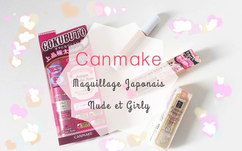 Canmake :  Maquillage Japonais Ultra Girly !!